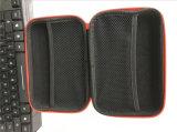 Red PU portátil de couro EVA de primeiros socorros para armazenamento de dados de viagem