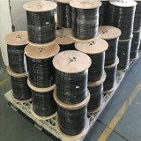 工場RG6 CATV CCTVのためのPVC黒い305m/Drumが付いている同軸Cable+2電源コード(RG6+2DC)