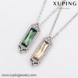 43960 Xuping Últimos diseños Collar chapado en oro blanco, cristales de Swarovski Collar de la barra para damas