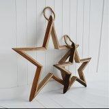 Regalo naturale pesante della stella di legno di quercia per la decorazione domestica