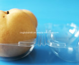 Il commestibile di sicurezza delle due di PCS coperture superiori della pera progetta i contenitori per il cliente impaccanti della copertura superiore di plastica libera per frutta