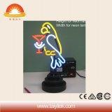 Lampada al neon di natale del regalo del tubo di vetro del pappagallo Handmade popolare di Margarita