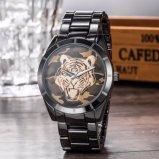 Quarz-Armbanduhr der Soem-kundenspezifischen Männer, Schweizer Armbanduhr für Mann (WY-17017C)