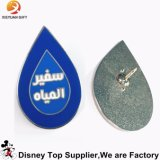 На заводе Custom металлической эмали серебристого цвета значка Булавка