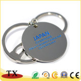 Souvenir ronde Coin époxy personnalisé de l'impression du logo de la chaîne de clé en métal