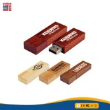 Bastoni istantanei di legno naturali del USB di prezzi più bassi dell'OEM per la promozione
