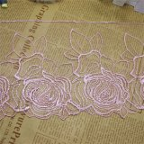 Merletto di nylon della guarnizione del ricamo del poliestere del merletto di nuova di disegno della fabbrica delle azione del commercio all'ingrosso immaginazione del ricamo per l'accessorio degli indumenti e le tessile domestiche