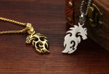 ヒップホップの宝石類の火のドラゴンの吊り下げ式のネックレスの銀または金カラーはステンレス鋼+Cubicのジルコニアの人のネックレスをくり抜く