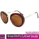 1186 estilo retro unissexo forma de elipse de óculos de sol