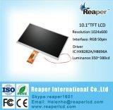 """Étalage 10.1 """" 1024*600 RVB 24bit 50pin de TFT LCD pour industriel, position, sonnette, médicale, Automative"""