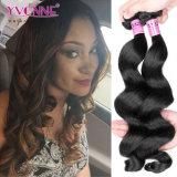 I capelli umani di Remy del Virgin peruviano all'ingrosso di Yvonne slacciano l'onda