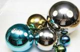 80mm 120 mm placage Rainbow Hollow billes en acier inoxydable pour les jouets ou de décoration