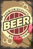 昇進の長方形の形ビール金属ポスター