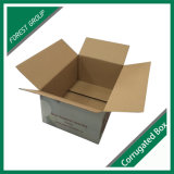 Коробка лоснистой вишни гофрированной бумага слоения упаковывая