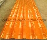 Revestido de color de pared/techo de teja/placa con film de protección para Benin