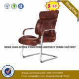가죽 중앙 뒤 매니저 의자 크롬 금속 사무실 의자 (HX-8047A)