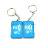 Resistente al agua 13.56MHz RFID NFC clave de la etiqueta de epoxi con Ntag213 216