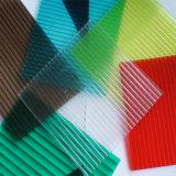 Folha protegida UV da cavidade do policarbonato do PC da casa verde para 8mm
