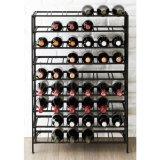 Cabina de visualización casera moderna del vino rojo del metal del almacenaje de la barra