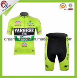 Desgaste de ciclo de la ropa de deportes de los hombres de la bicicleta de Jersey de la impresión respirable de encargo de la sublimación
