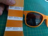 Promoção UV400 com óculos de sol Vintage agrafo plástico logotipo personalizado