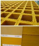 Couvertures chargées élevées de grille de panneau de façade de grilles moulées par FRP/GRP
