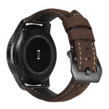 venda de reloj italiana del cuero genuino de 22m m para la correa de reloj del engranaje S3 de Samsung
