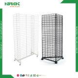 H форма стены из проволочной сетки дисплея для установки в стойку с прикатывающими барабанами и крюки