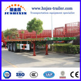 40FT 3axle Flatbed Carrying Container Truck Semi Trailer card with CCC ISO certificate