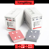 Cartes de commerce faites sur commande bleues de constructeur de papier de faisceau de jeu de casino de MOQ 5K de carte de noir fait sur commande de casino (YM-PC03)