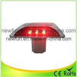 Luz que contellea roja de gato de los ojos del espárrago solar LED del camino