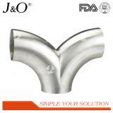 衛生ステンレス鋼の倍ヘッド90度のバットによって溶接される肘