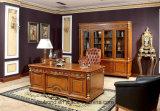 0029 итальянской Королевской деревянной мебелью в стиле люкс латунные украшения исследование письменный стол