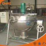 Inclinando o tipo vapor/chaleira elétrica do revestimento com a caldeira do potenciômetro do fogão do misturador do agitador