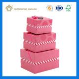 Cadre de papier de beau de Valentine cadeau rose du jour avec le couvercle