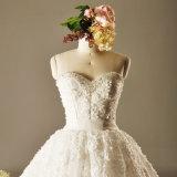 Rendas Strapless Pearl Ball Suite Robes de casamento