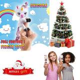 아기 재미있은 장난감 핑거 Unicorn 대화식 지능적인 장난감 축제 Chirstmas Xmas 참신 선물이 소형 새로운 손 말에 의하여 농담을 한다