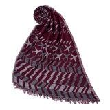 冬の暖かい編まれた編まれたショールのスカーフ(SP259)のような女性の220*70cmのアクリルのビスコース可逆カシミヤ織