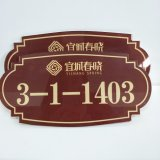 Exterior Door Punts, Custom Made Acrylic Apartment Room Signs Hotel Door Numbers