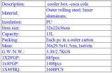 La porte de portable en acier inoxydable PP congélateur du boîtier du refroidisseur