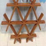 Plafond linéaire en aluminium de rouleau de configuration en bois imperméable à l'eau en gros de couche