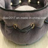 Prodotti di lusso grigi scuri dell'animale domestico del sofà delle basi del cane di disegno