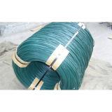 Verde revestido PVC direto do fio do PVC do fio do laço do PVC do fio do ferro da fábrica (AYW-002)