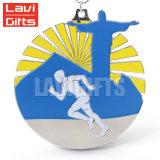 Diseño de Moda personalizada grabado 3D Metal Soft enamel ejecutando la medalla de deporte