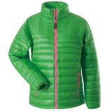 Pink Zipの人Padded Jacket Green