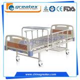Zwei Funktionen ABS Headboard-manuelles Krankenhaus-Bett