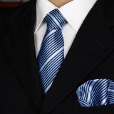 Relation étroite de la mode 100% de Mens de configuration rayée et grand dos de poche tissés par soie