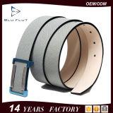 Riem van uitstekende kwaliteit van het Roestvrij staal van het Leer Cowskin van de Luxe de Echte Zwarte voor Mensen