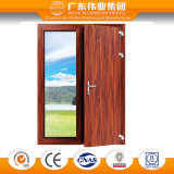 90 series del aluminio/aluminio/puertas compuestas interiores del estilo abierto del oscilación de Aluminio