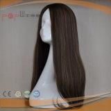 ブラウンカラー絹の上の技術の完全なヘッド大きい層様式の女性のかつら(PPG-l-0863)